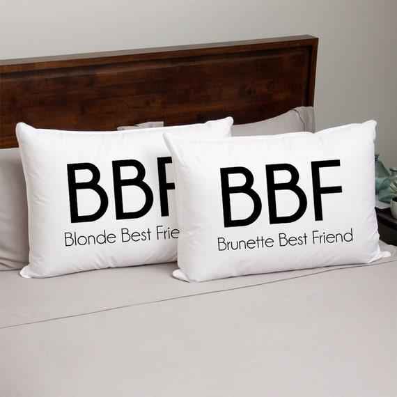 Items similar to Custom Pillow Case - Blonde Best Friend Brunette Best Friend - Sleepover on Etsy & Items similar to Custom Pillow Case - Blonde Best Friend Brunette ... pillowsntoast.com