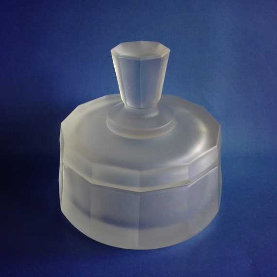 Italian Clear Glass Driveway: Cristallin Clear Frosted Glass Trinket Dish From Italy