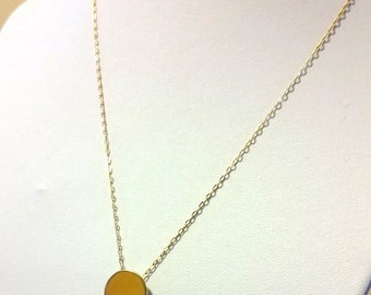 "Simple Plain Disc Pendant - 1/2"" ( 12.7mm ), 20Ga Brass"
