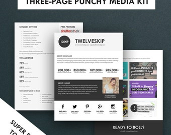 Minimalist Media Kit Template, Press Kit (3 Pages)