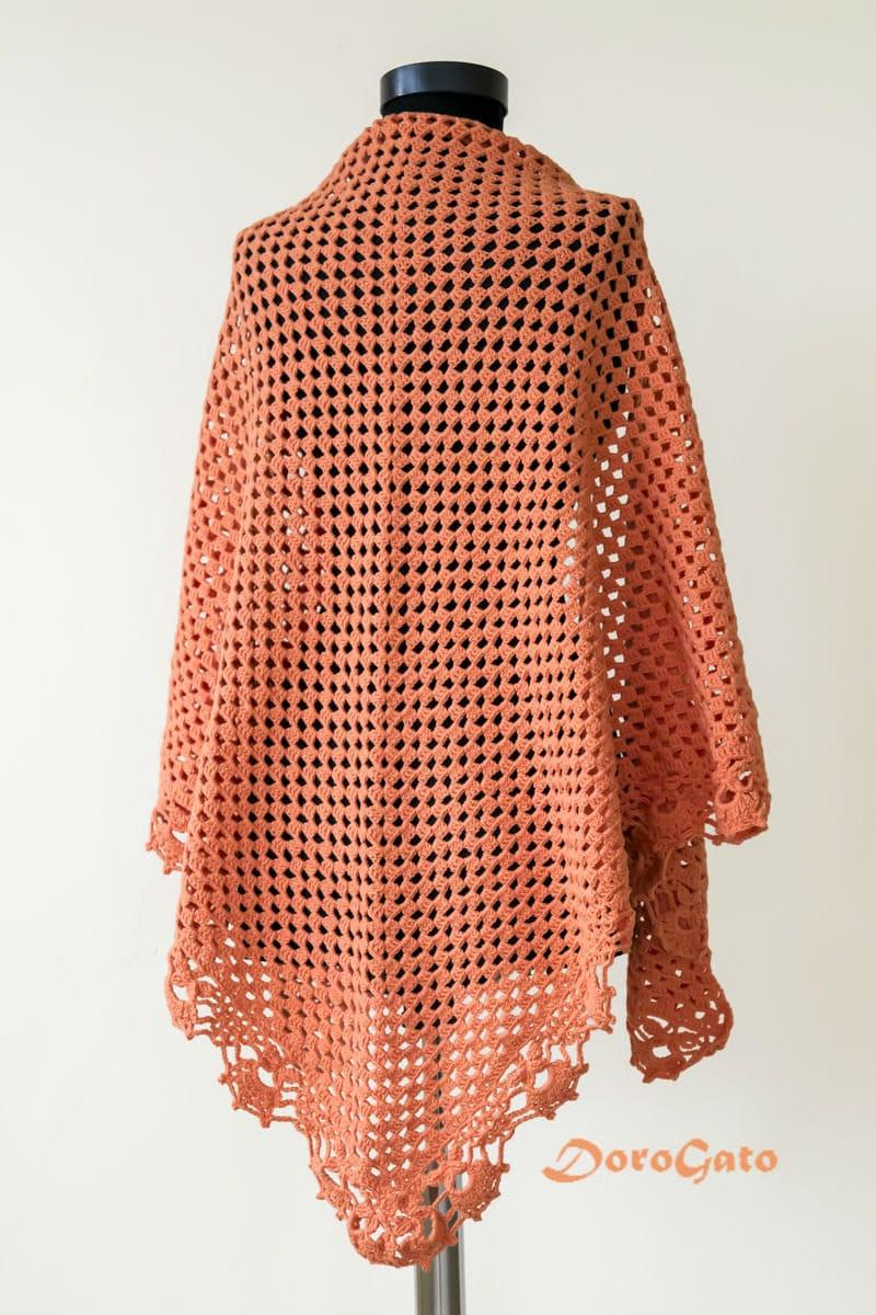 Lace Triangle Shawl Crochet Pattern : Triangle shawl pattern Lace crochet pattern shawl stole