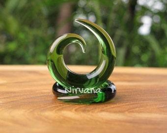 "Solid Color Translucent Green Spirals 10g 8g 6g 4g 2g 0g 00g 7/16"" 1/2"" 9/16"" 5/8""  2.5 mm 3 mm 4 mm 5 mm 6 mm 8 mm 10 mm 12 mm 14 mm 16 mm"