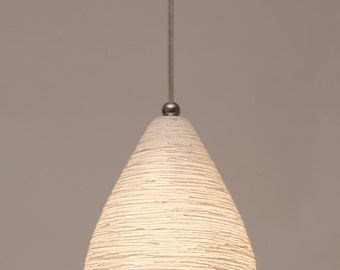 Nest Pendant Light • translucent porcelain with fine threadlike relief surface texture.