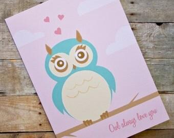 Owl Always Love You Romantic Card