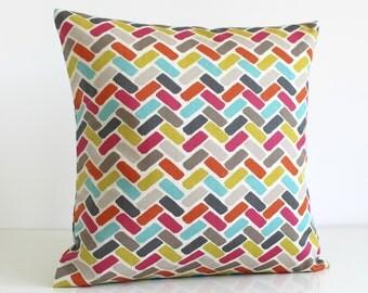Cotton Pillow Cover, Pillow Cover, Pillow Covers, Cushion Cover, Throw Pillow, Pillow Sham, Accent Pillow - Chock-A-Block Zest