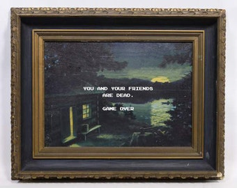 Thrift Store Art - Friday the 13th