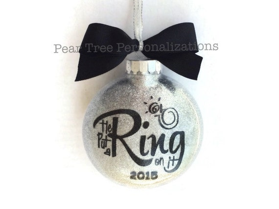 Wedding Gift Ornaments: Engagement Ornament Engaged Ornament He Put A Ring On It