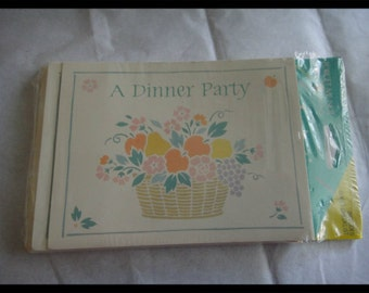 Vintage American Greetings Dinner Party Invitations  Invite Greeting Card