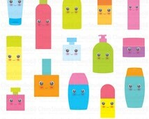 Cosmetic container vector - Digital Clipart - Instant Download - EPS, Pdf and PNG files included