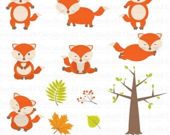 Fox vector - Digital Clipart - Instant Download - EPS, Pdf and PNG files included