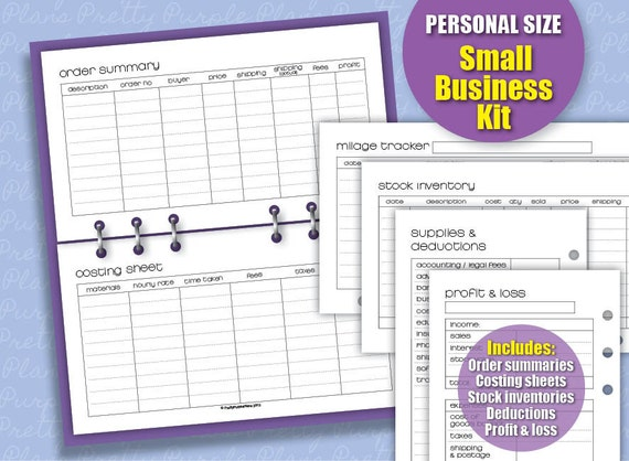 Free printable small business planner organizer