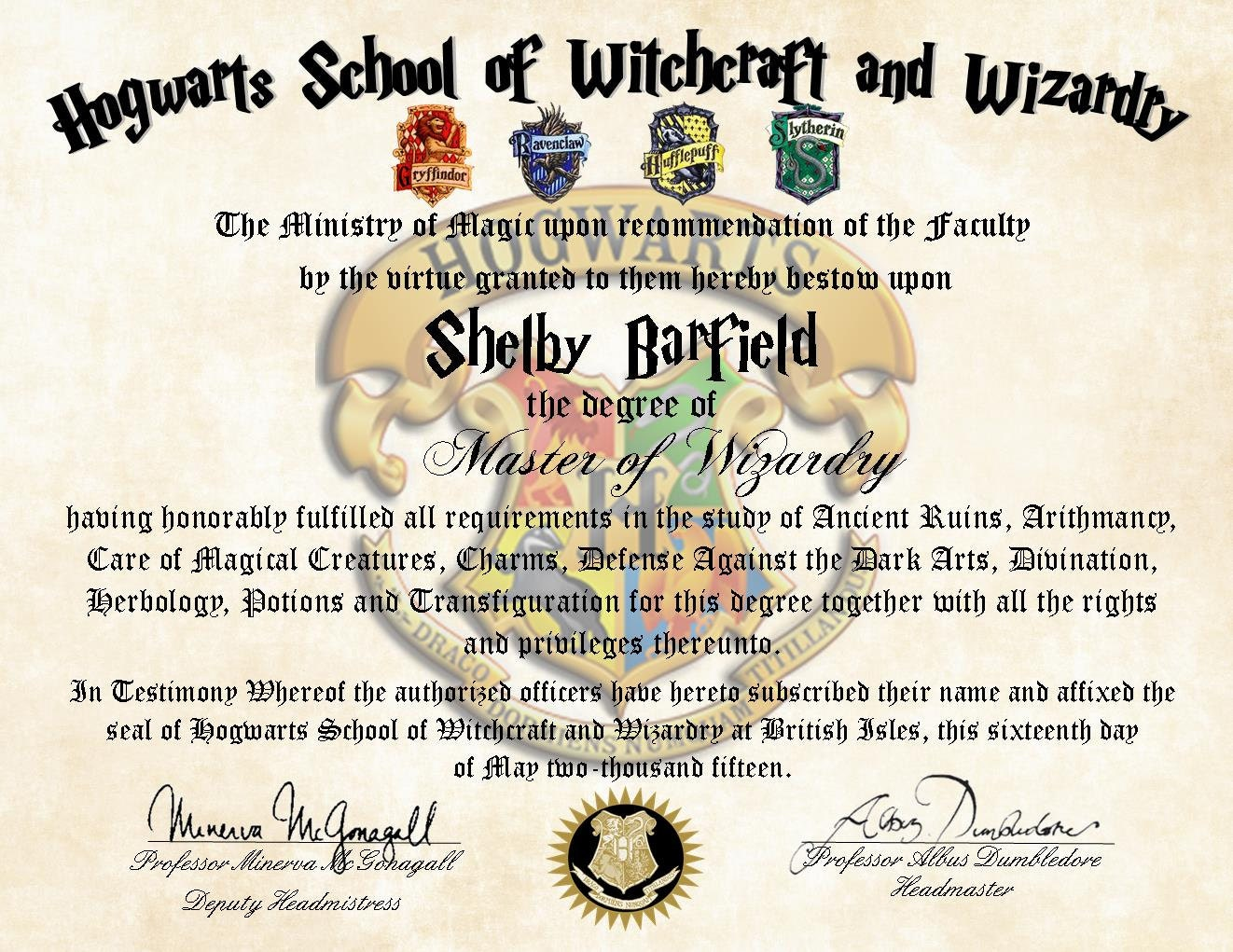 personalized hogwarts diploma harry potter by pixiepaperstl