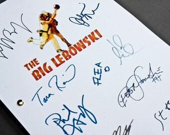 The Big Lebowski Film Movie Script with Signatures / Autographs Reprint Unique Gift Christmas Xmas Present TV Fan Geek
