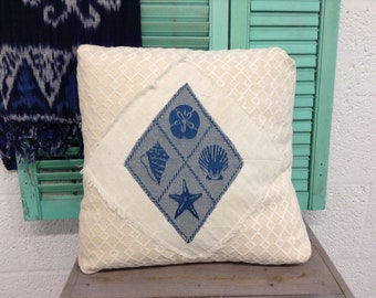 Decorative Handmade Pillow Cover Beach Nautical Style