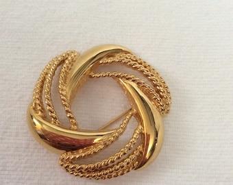 Vintage Napier brooch gold tone pin 02B