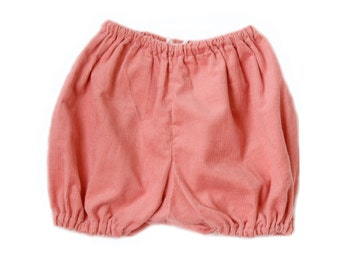 Corduroy cotton bloomers / diaper cover - plum