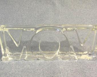 Avon Glass 'MOM' Paperweight