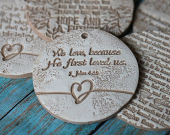 Religious gift tags, bible verse, Inspirational, verse, easter(Price is for a set of 4)