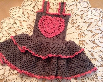 Instant Download Instructive Crochet Pattern No. 412 for young girls.