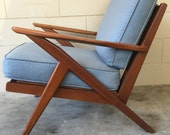 Selig inspired Mid century modern vintage Z chair