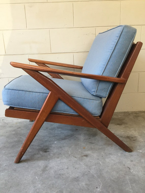 Selig inspired mid century modern vintage z chair for Z chair mid century