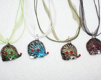 Glass Hedgehog Necklace