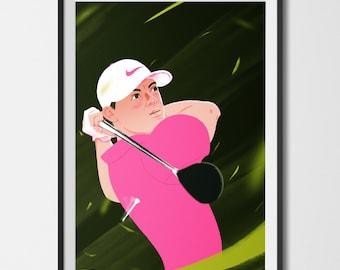Rory Mcilroy Fine Art Print
