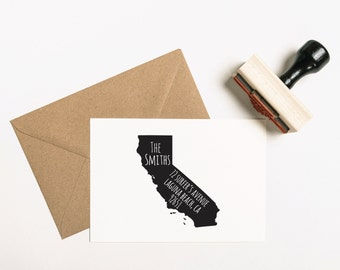 State Return Address Stamp, Custom State Stamp, Return to Sender Stamp, State Rubber Stamp, Self-Ink Address Stamp, Name Stamp (SADDR102)