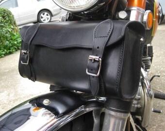 Leather motorbike tool bag