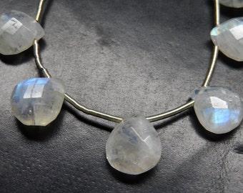 Rainbow Moonstone Gemstone  Beads  Shape Heart  Briolette