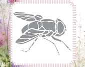 Fly Insect Animal Reusable Stencil (Great for Craft and Scrapbooking)