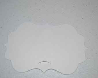 50 White Blank Cupcake Toppers/Cupcake Toppers/Toppers