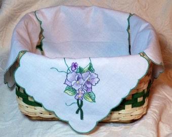 Handwoven napkin or roll basket