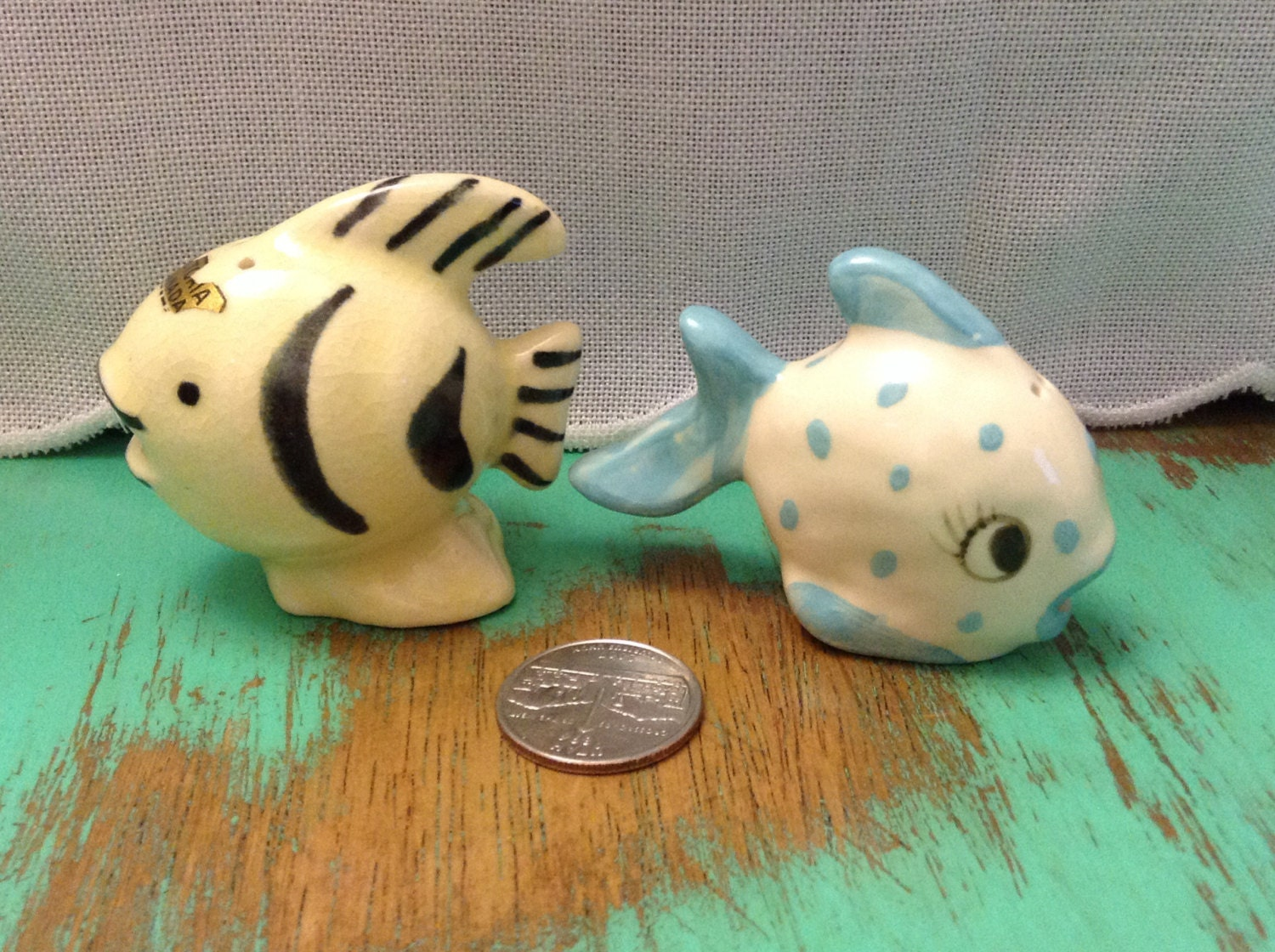 Fancy Lil Fish Salt And Pepper Shakers
