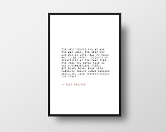 Jack Kerouac, On the Road, Literary Quote, The mad ones, Writer Inspiration, Inspiration Quote, Life Quote, Literary Poster, Typography
