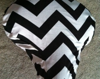 Cruiser Bike Seat Cover:premium outdoor Cotton, Black/White Chevron