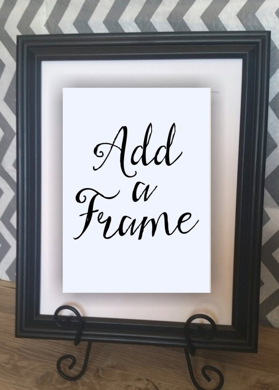 Add A Black Frame With Your Burlap Print 10 X 13 With 8 X 10