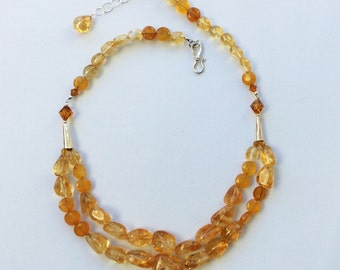 Sun-drenched Celestine necklace