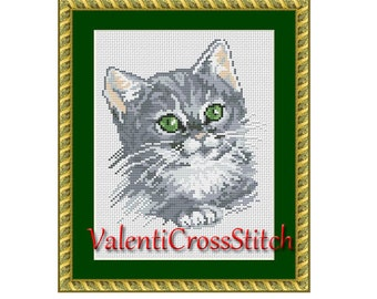 CAT cross stitch pattern, cross stitch cat, counted cross stitch cat, cross stitch patterns, cross stitch pattern