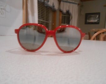 Vintage Aviator Mirrored Steam Punk Red Ski Red Sunglasses Motorcycle Goggles SunGlasses