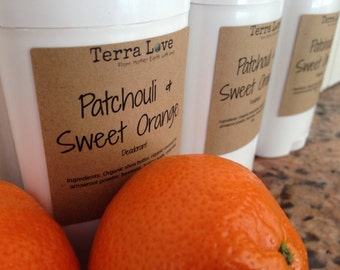 Sweet Orange and Patchouli Deodorant or choose your OWN scent
