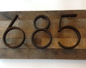Reclaimed wood Address Plaque - custom, personalized, house numbers, address sign, cabin, cottage, housewarming gift, address plate