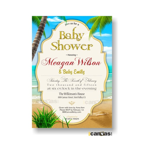 beach baby shower invitation summer beach baby shower invite boy