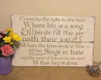 Customized song lyric wood sign. Personalized wedding song sign