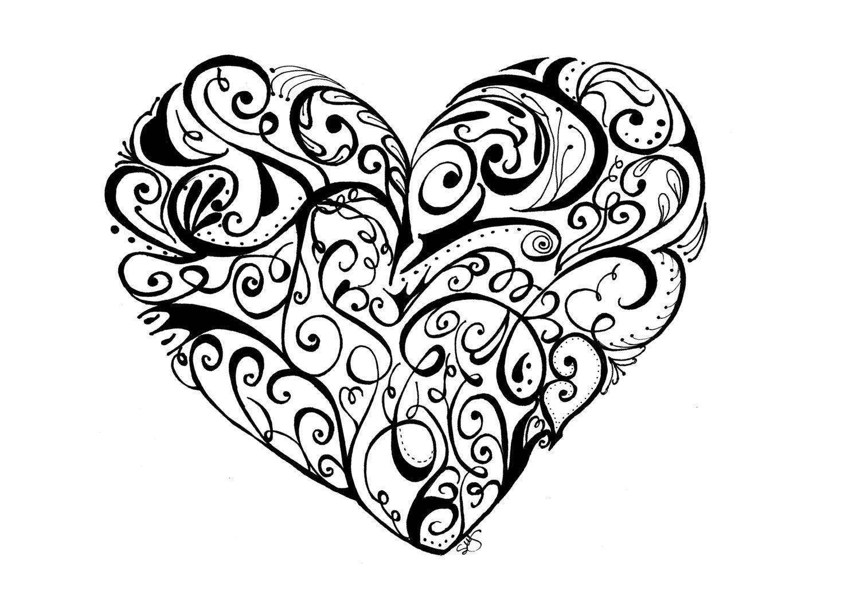 17 Best images about Art: Zentangle Heart on Pinterest ... |Zentangle Heart Graphics