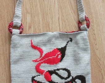 Knitted Bag with Picture