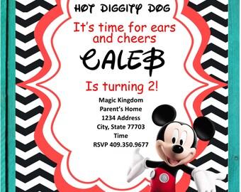 Mickey Mouse Club House Invitation