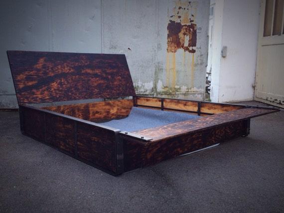 Bett Industrial handmade bed in the industrial look
