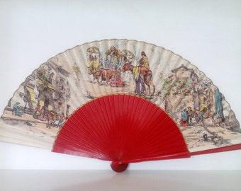 Vintage Spanish Fan. Mid Century Spanish Fan.