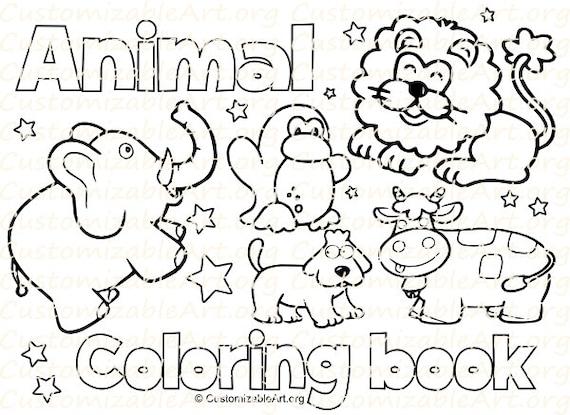 Items Similar To Animal Coloring Book Printable Kids